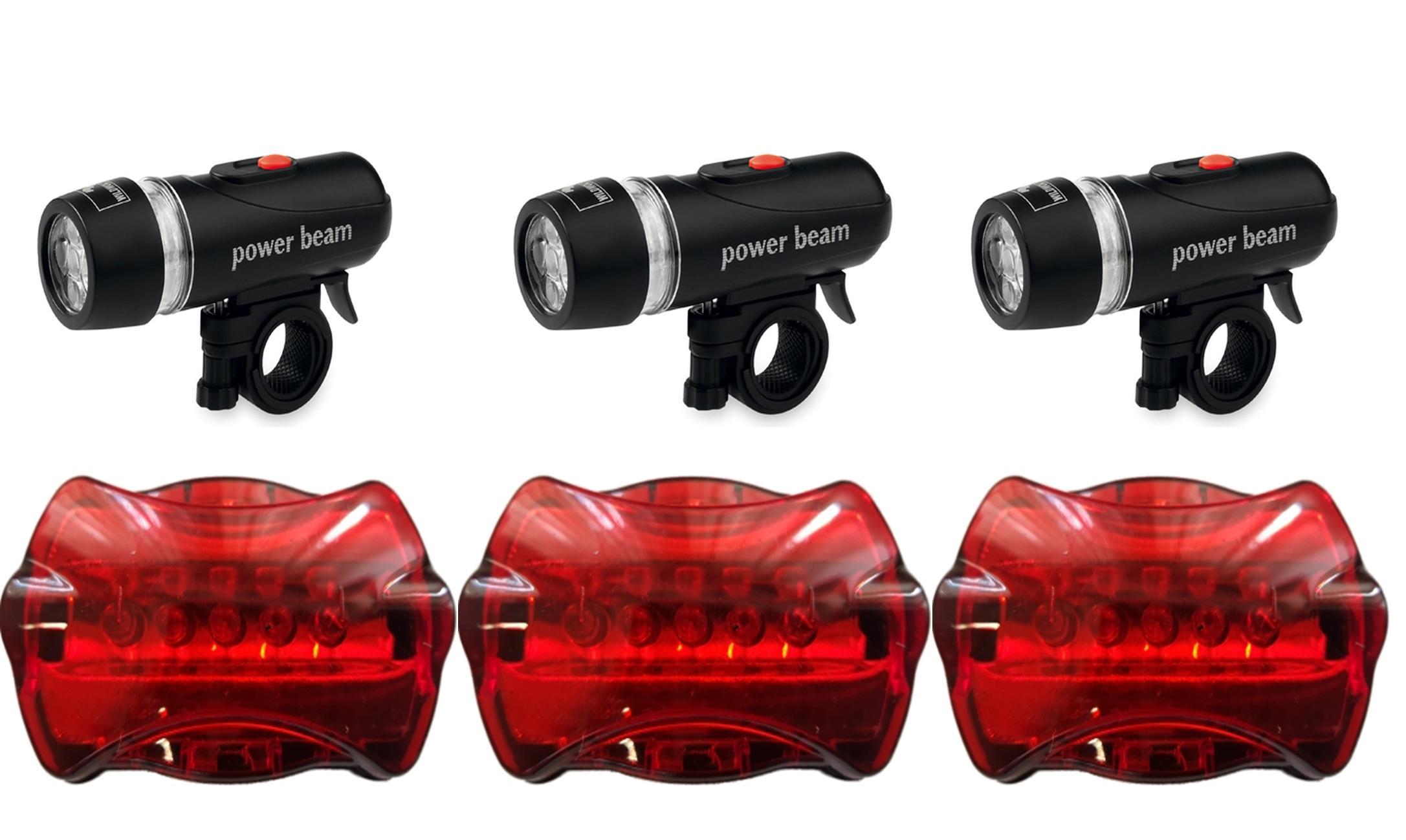 3x led fahrradbeleuchtung fahrradlampe fahrradlicht fahrrad licht lampe set ebay. Black Bedroom Furniture Sets. Home Design Ideas