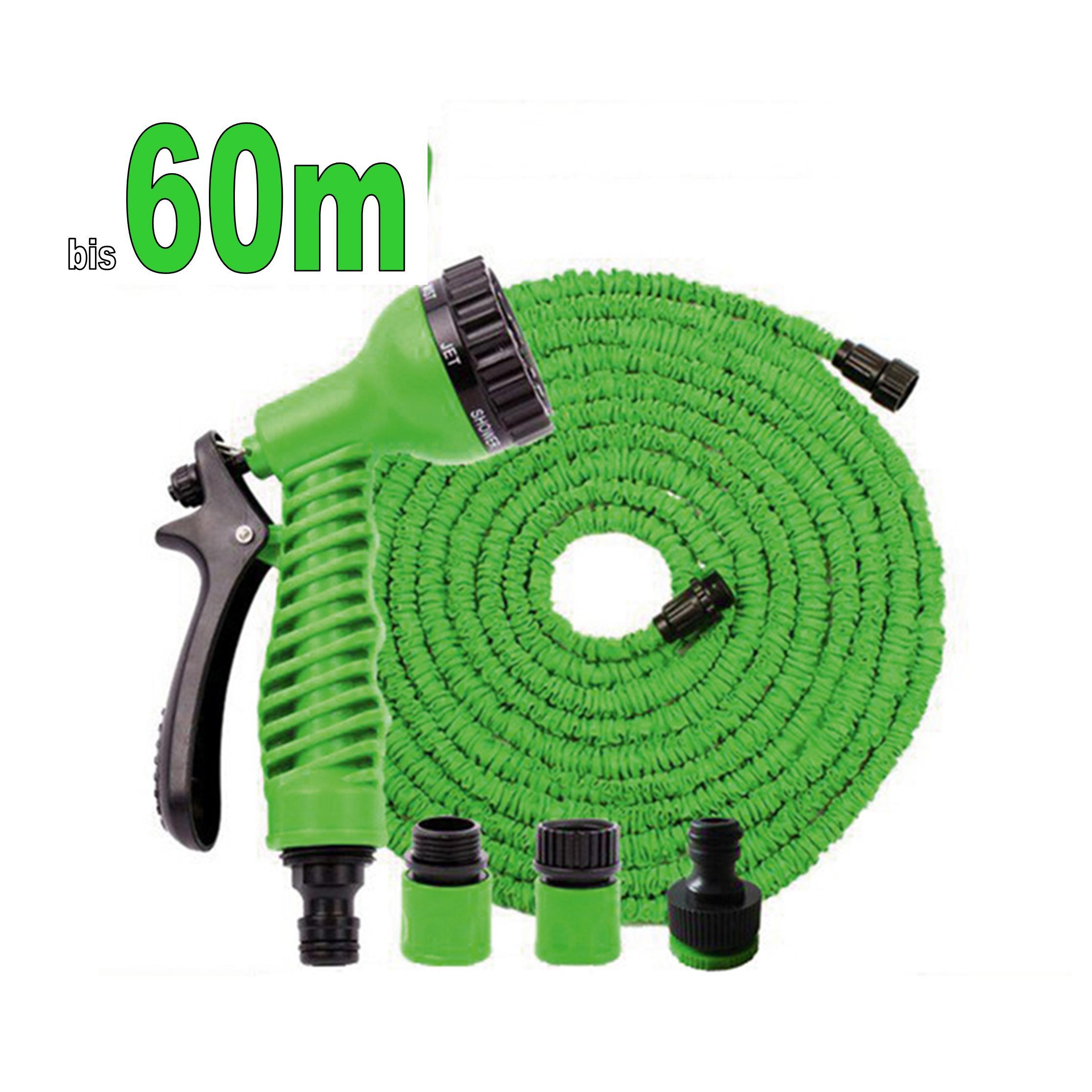flexibler gartenschlauch wasserschlauch dehnbarer flex schlauch bis zu 60m ebay. Black Bedroom Furniture Sets. Home Design Ideas